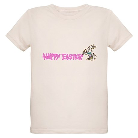 Paint Easter Bunny Organic Kids T-Shirt