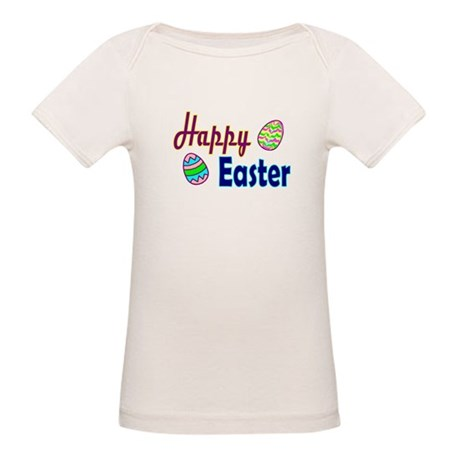 Happy Easter Eggs Organic Baby T-Shirt