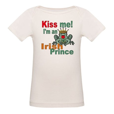 Kiss Me Irish Frog Organic Baby T-Shirt