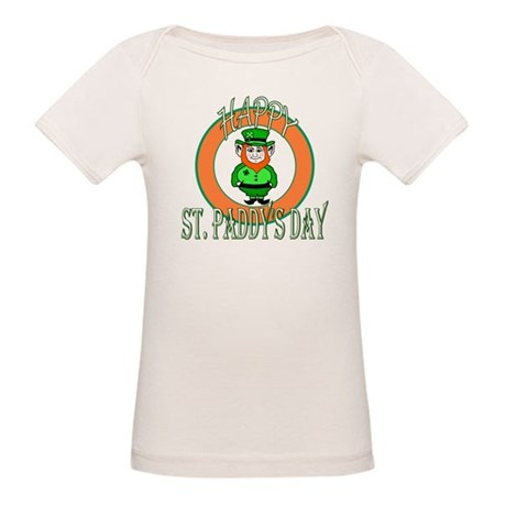 Leprechaun Happy St Paddy's Organic Baby T-Shirt