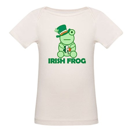Irish Leprechaun Frog Organic Baby T-Shirt