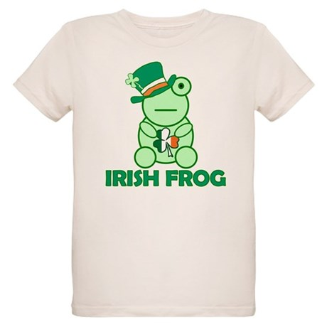 Irish Leprechaun Frog Organic Kids T-Shirt