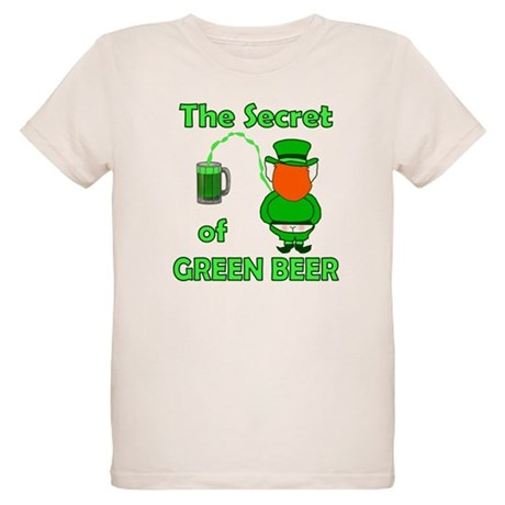 Funny Green Beer Organic Kids T-Shirt