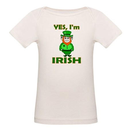 Yes I'm Irish Organic Baby T-Shirt