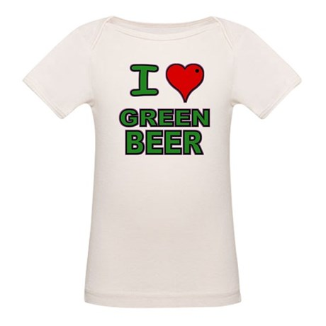 I heart Green Beer Organic Baby T-Shirt