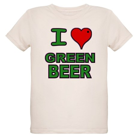 I heart Green Beer Organic Kids T-Shirt