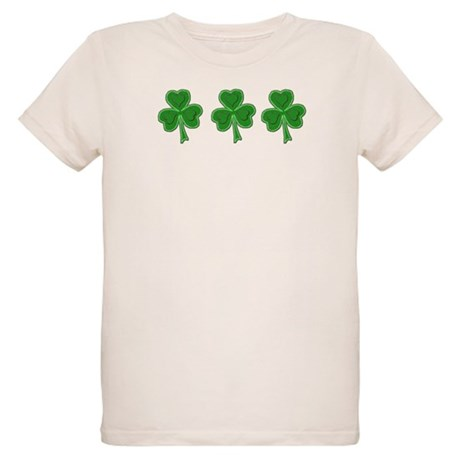 Triple Shamrock (Green) Organic Kids T-Shirt