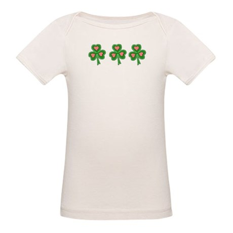 Three Shamrocks Pink Heart Organic Baby T-Shirt