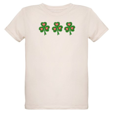 Three Shamrocks Pink Heart Organic Kids T-Shirt