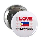 "I Love Philippines 2.25"" Button"