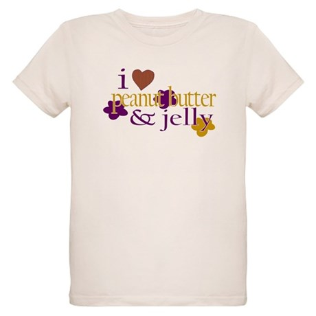 I Love Peanut Butter & Jelly Organic Kids T-Sh