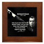 Motivation Richard Nixon Framed Tile
