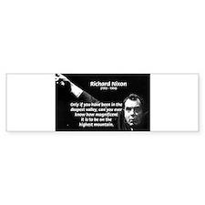 Motivation Richard Nixon Bumper Bumper Sticker