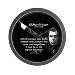 Motivation Richard Nixon Wall Clock