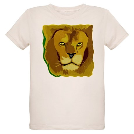 Yellow Eyes Lion Organic Kids T-Shirt