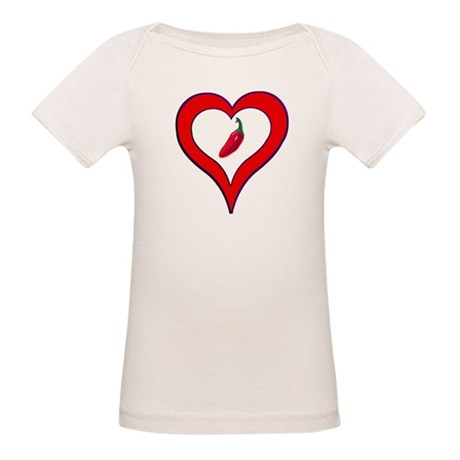 Red Hot Pepper Valentine Organic Baby T-Shirt