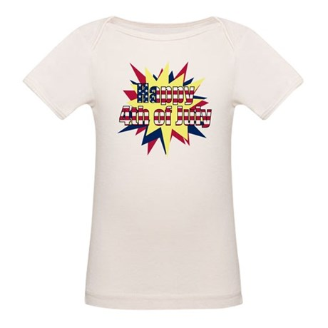 Starburst 4th of July Organic Baby T-Shirt