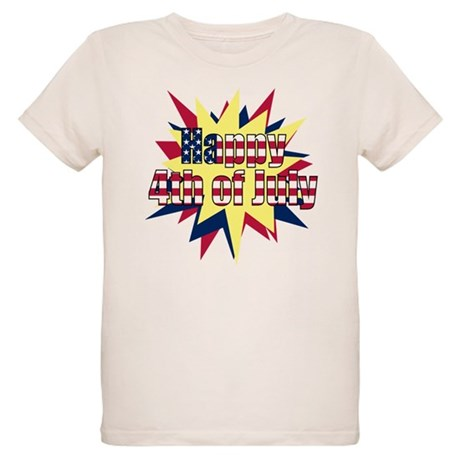 Starburst 4th of July Organic Kids T-Shirt