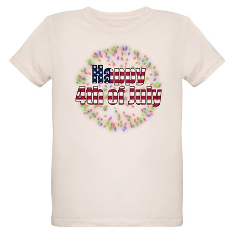 Happy 4th of July Organic Kids T-Shirt