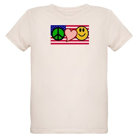 Peace Love Smile Organic Kids T-Shirt