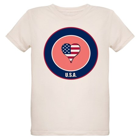 I heart USA t-shirt Organic Kids T-Shirt