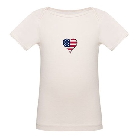 USA Flag Heart t-shirt Organic Baby T-Shirt