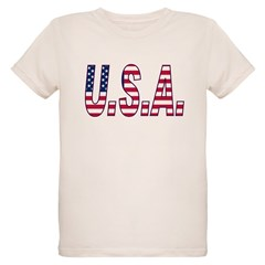 Flag USA Organic Kids T-Shirt
