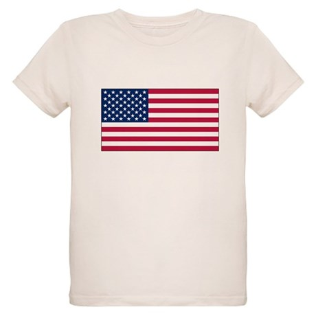 USA Flag Organic Kids T-Shirt