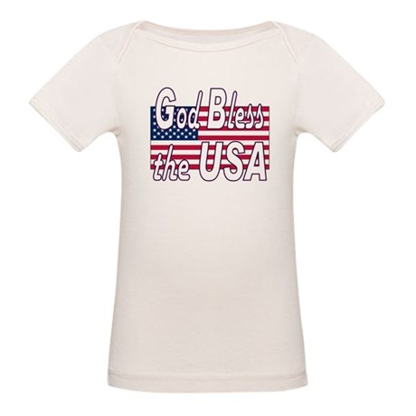 God Bless the USA Organic Baby T-Shirt