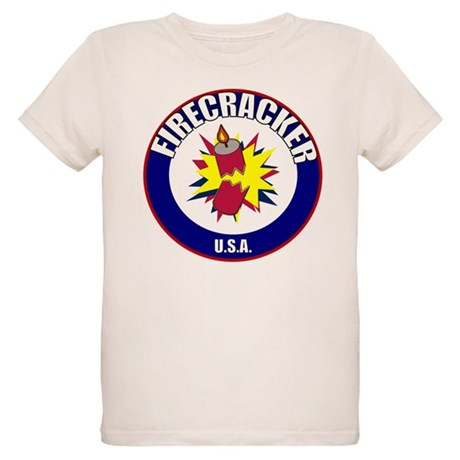 USA Firecracker Organic Kids T-Shirt