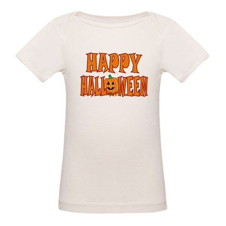 Happy Halloween Pumpkin Organic Baby T-Shirt