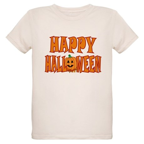 Happy Halloween Pumpkin Organic Kids T-Shirt