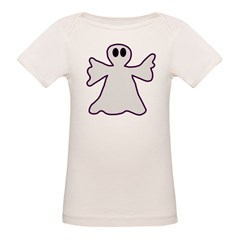 Halloween Ghost Organic Baby T-Shirt