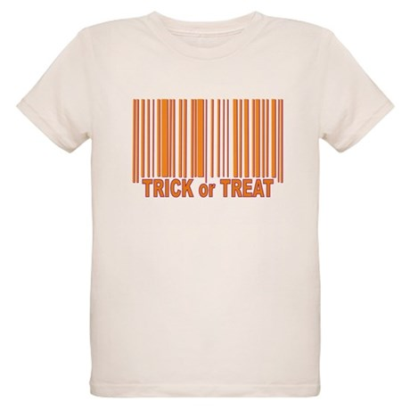 Barcode Trick or Treat Organic Kids T-Shirt