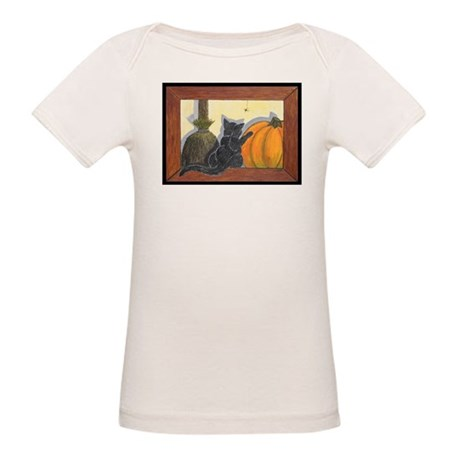 Halloween Cat - Just the Art, Organic Baby T-Shirt