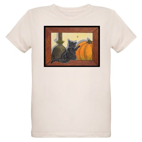 Halloween Cat - Just the Art, Organic Kids T-Shirt