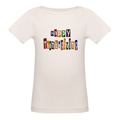Fun Happy Thanksgiving Organic Baby T-Shirt
