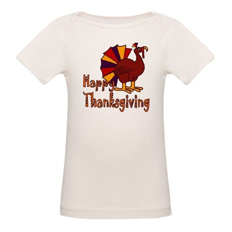 Funny Happy Thanksgiving Organic Baby T-Shirt