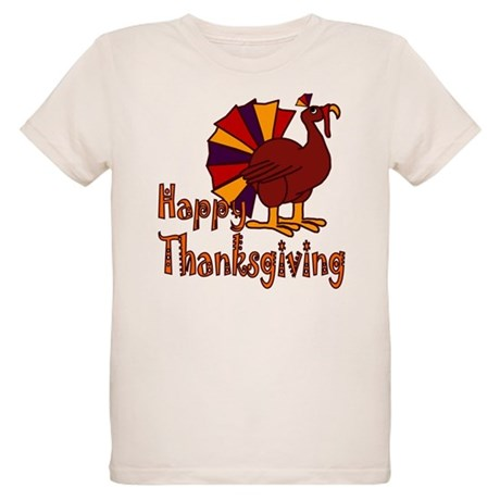 Funny Happy Thanksgiving Organic Kids T-Shirt