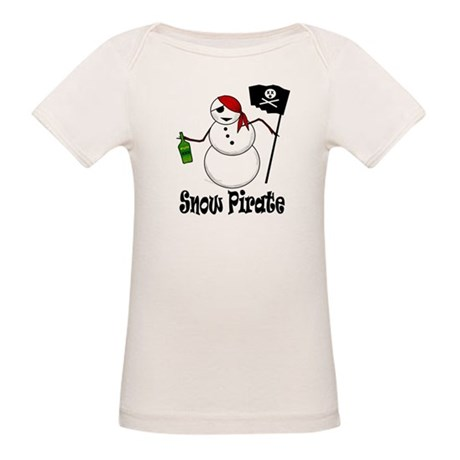 Snowman Christmas Pirate Organic Baby T-Shirt