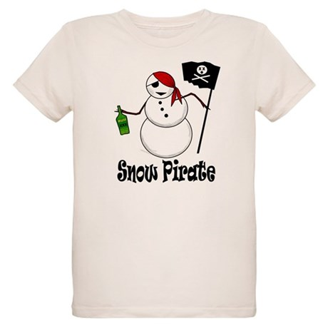 Snowman Christmas Pirate Organic Kids T-Shirt