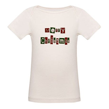 Merry Christmas Organic Baby T-Shirt
