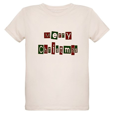 Merry Christmas Organic Kids T-Shirt