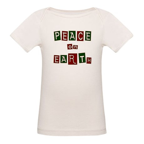 Peace on Earth Organic Baby T-Shirt