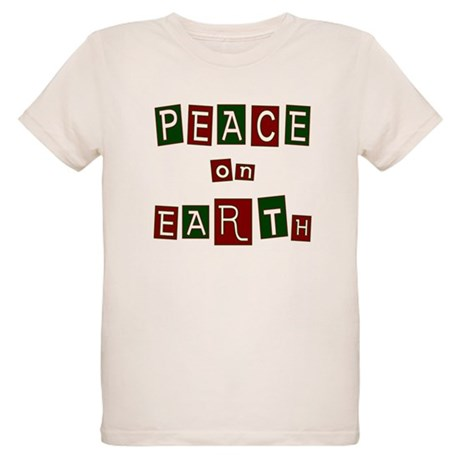 Peace on Earth Organic Kids T-Shirt
