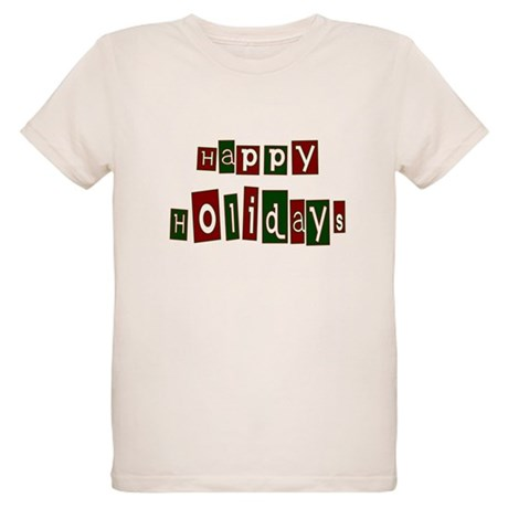 Happy Holidays Organic Kids T-Shirt