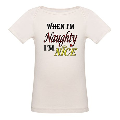 Naughty IS Nice Organic Baby T-Shirt