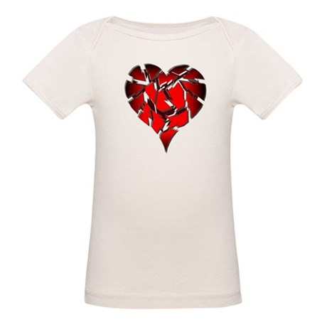 Broken Heart Organic Baby T-Shirt
