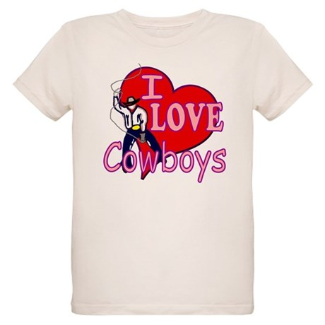 I Love Cowboys Organic Kids T-Shirt