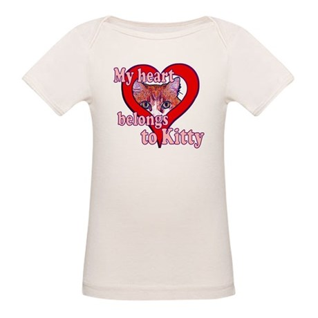 My heart belongs to kitty Organic Baby T-Shirt